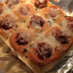 Meatball Stuffed Cheesy Garlic Bread 〜おウチごはん