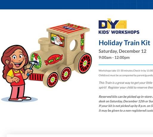 Lowe's DIY Kids' Workshop 子供向け簡単な無料DIYイベント